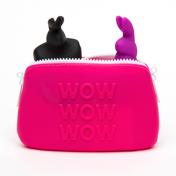 HAPPY RABBIT - WOW STORAGE ZIP BAG SMALL PINK - E28826_2